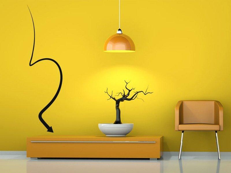 Samolepky na zeď Šipka 018 - Samolepící dekorace a nálepka na stěnu