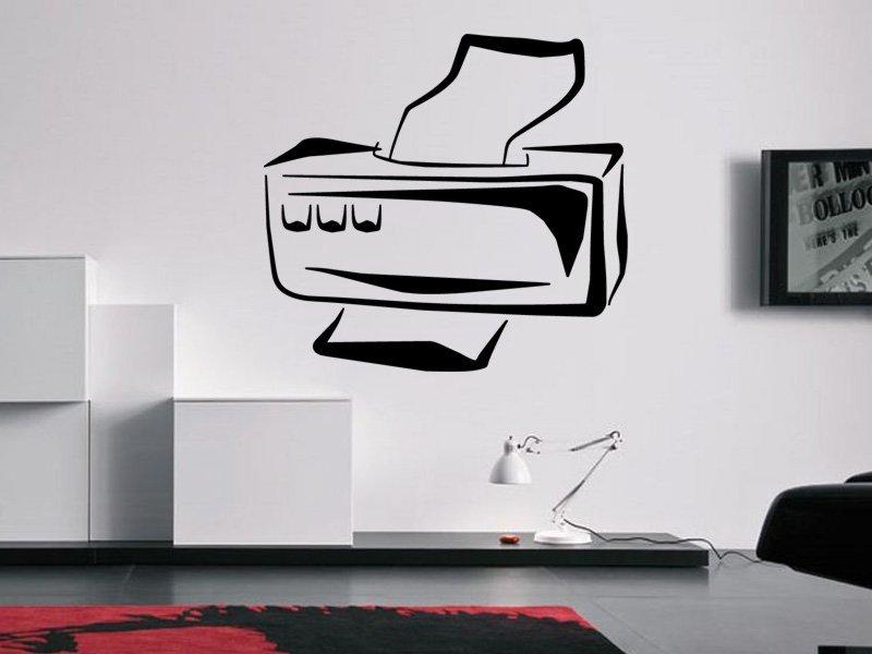 Samolepky na zeď Tiskárna 0258 - Samolepící dekorace a nálepka na stěnu