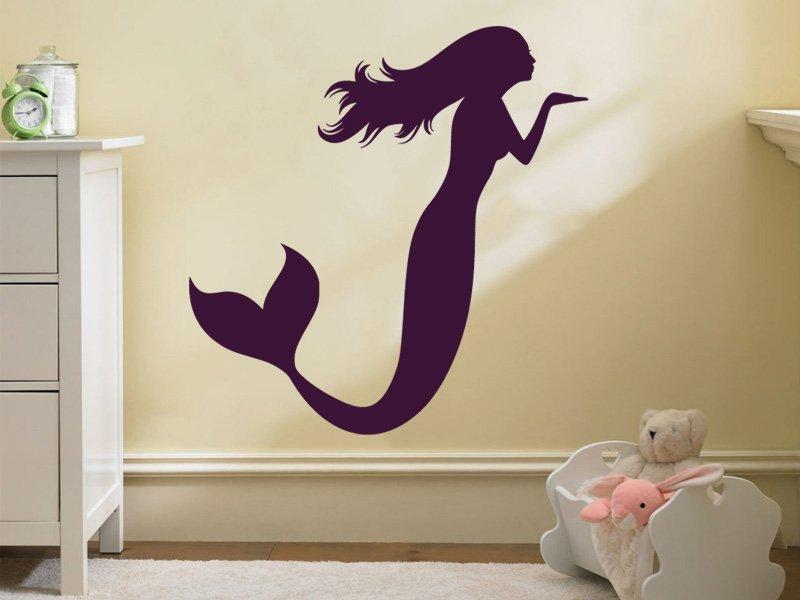 Samolepky na zeď Mořská panna 0282 - Samolepící dekorace a nálepka na stěnu