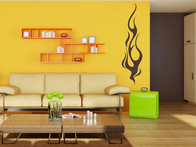 Samolepky na zeď Plameny 003 - Samolepící dekorace a nálepka na stěnu