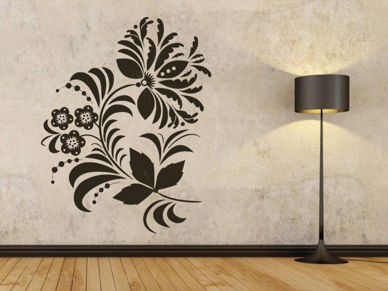 Samolepky na zeď Ornamenty z rostlin 039 - Samolepící dekorace a nálepka na stěnu