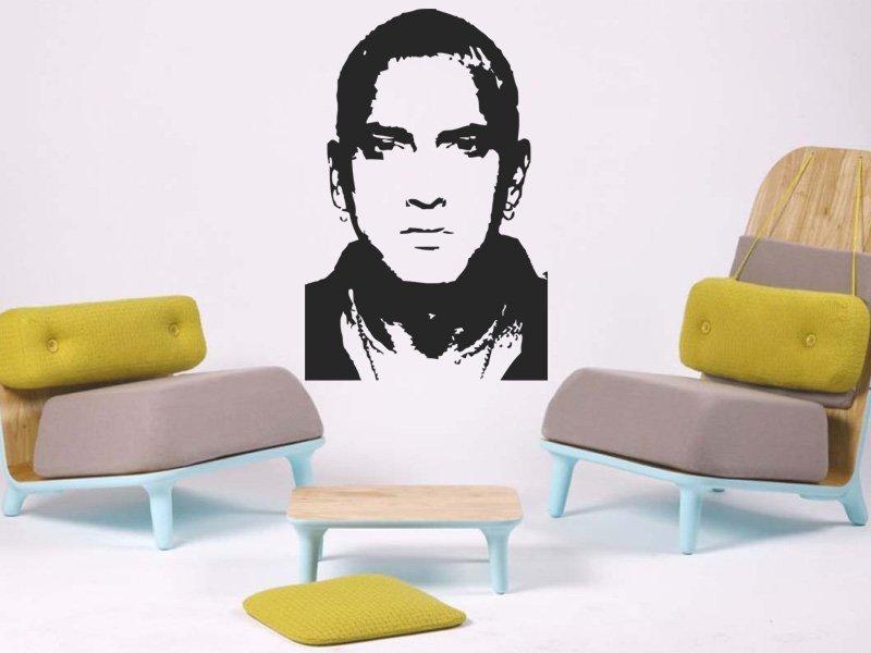 Samolepky na zeď Eminem 001 - Samolepící dekorace a nálepka na stěnu