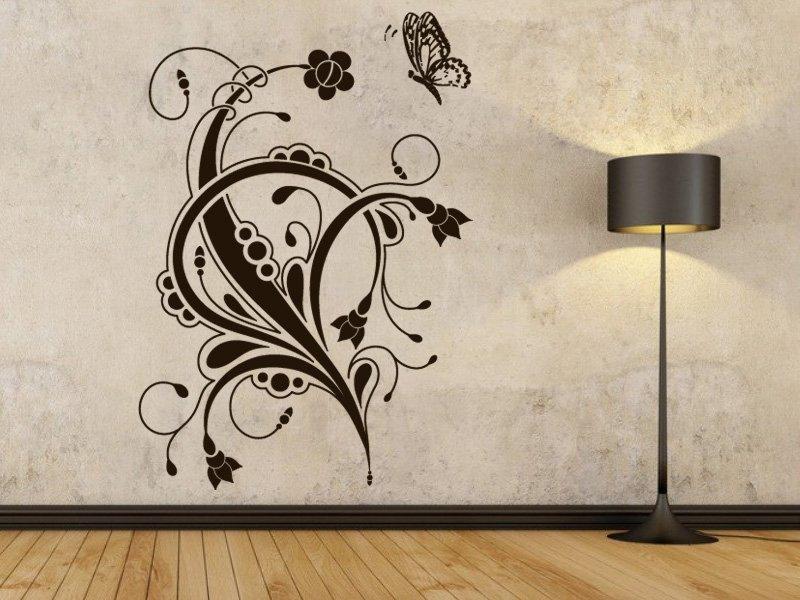 Samolepky na zeď Kytka 007 - Samolepící dekorace a nálepka na stěnu