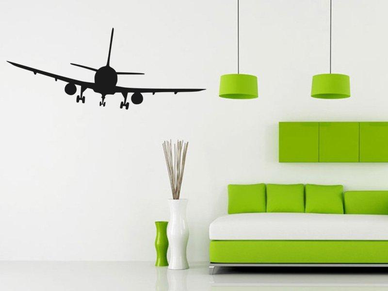 Samolepky na zeď Letadlo 008 - Samolepící dekorace a nálepka na stěnu