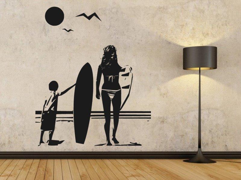 Samolepky na zeď Pláž 001 - Samolepící dekorace a nálepka na stěnu