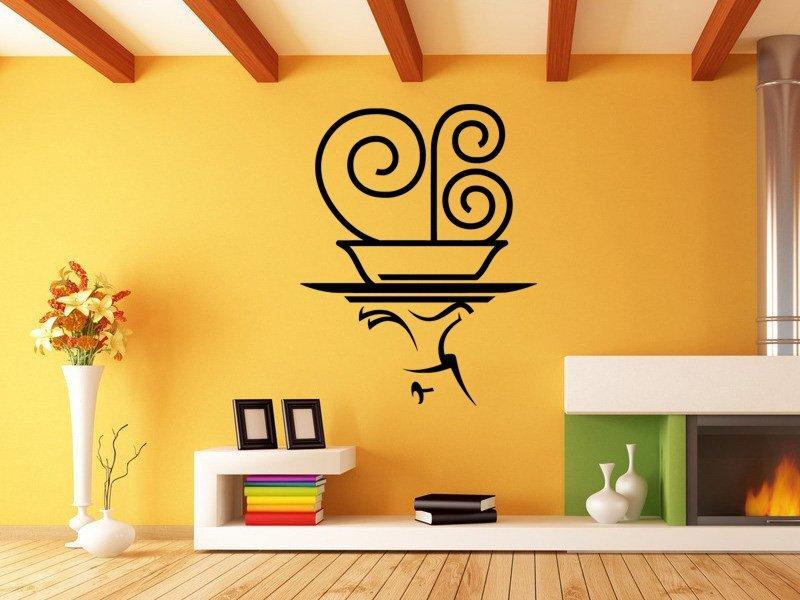 Samolepky na zeď Servírování 0168 - Samolepící dekorace a nálepka na stěnu