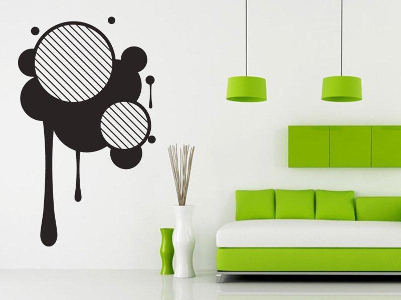 Samolepky na zeď Kruhy 003 - Samolepící dekorace a nálepka na stěnu