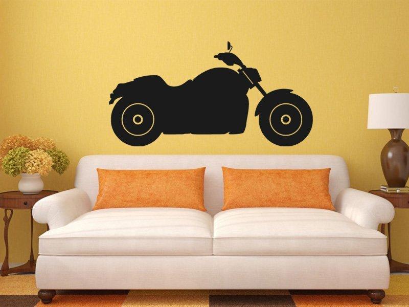 Samolepky na zeď Motorka 003 - Samolepící dekorace a nálepka na stěnu