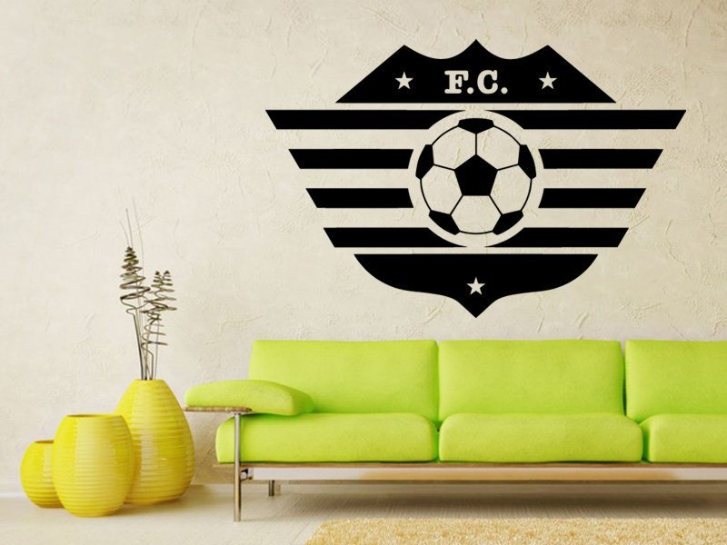 Samolepky na zeď Fotbalový míč 003 - Samolepící dekorace a nálepka na stěnu