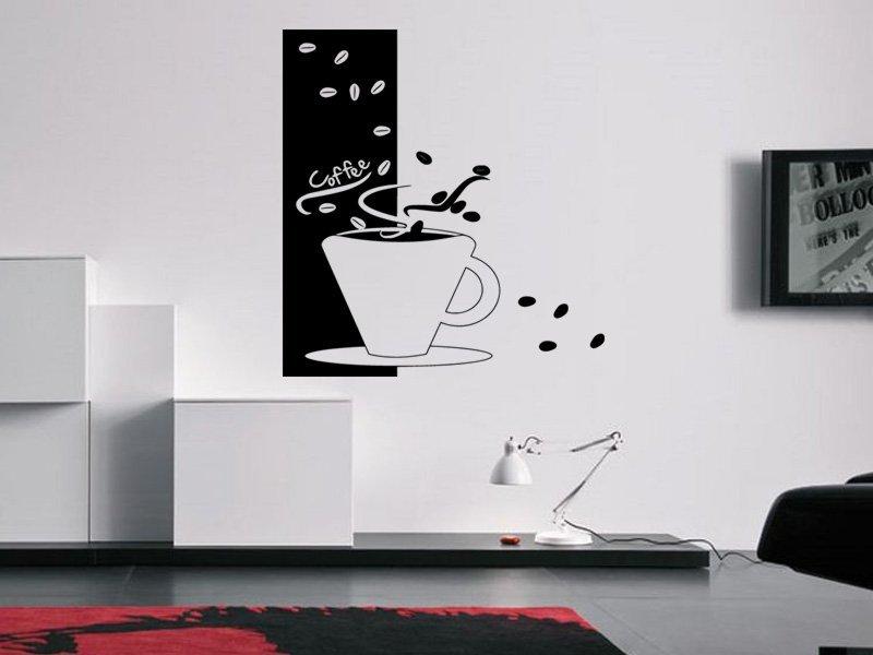 Samolepky na zeď Hrnek kávy 0041 - Samolepící dekorace a nálepka na stěnu