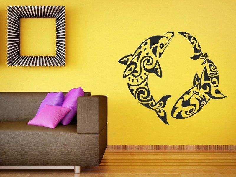 Samolepky na zeď Delfíni 001 - Samolepící dekorace a nálepka na stěnu