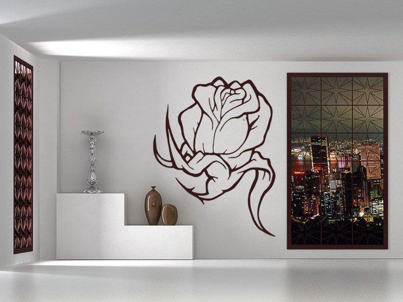 Samolepky na zeď Kytka 002 - Samolepící dekorace a nálepka na stěnu