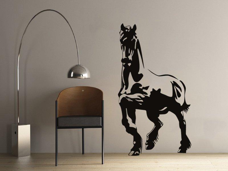 Samolepky na zeď Kůň 009 - Samolepící dekorace a nálepka na stěnu
