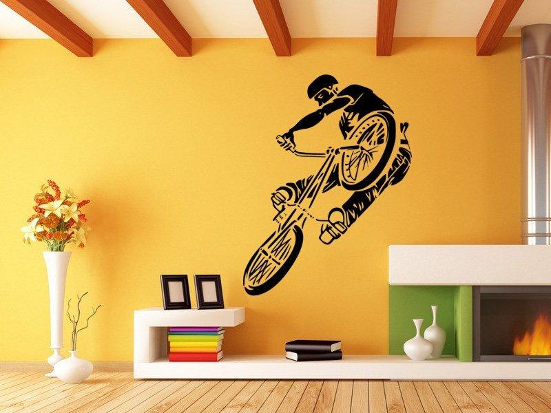 Samolepky na zeď BMX biker 1048 - Samolepící dekorace a nálepka na stěnu