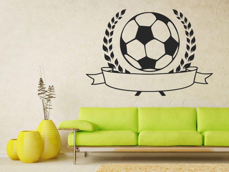 Samolepky na zeď Fotbalový míč 001 - Samolepící dekorace a nálepka na stěnu