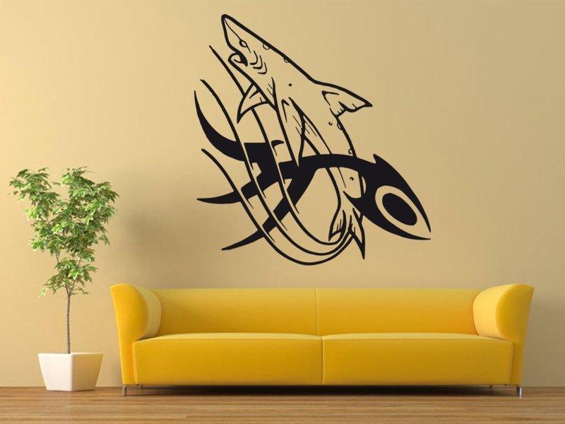 Samolepky na zeď Žralok 001 - Samolepící dekorace a nálepka na stěnu