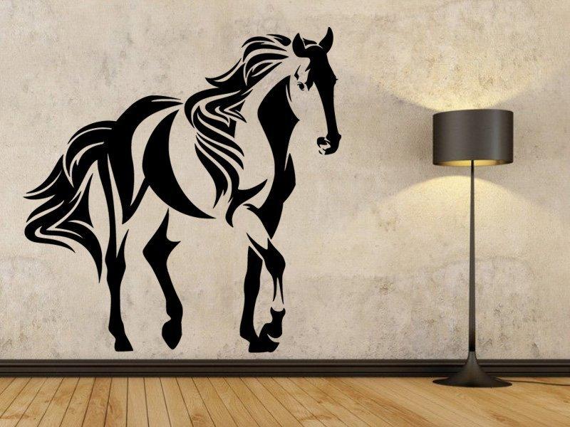Samolepky na zeď Kůň 0336 - Samolepící dekorace a nálepka na stěnu