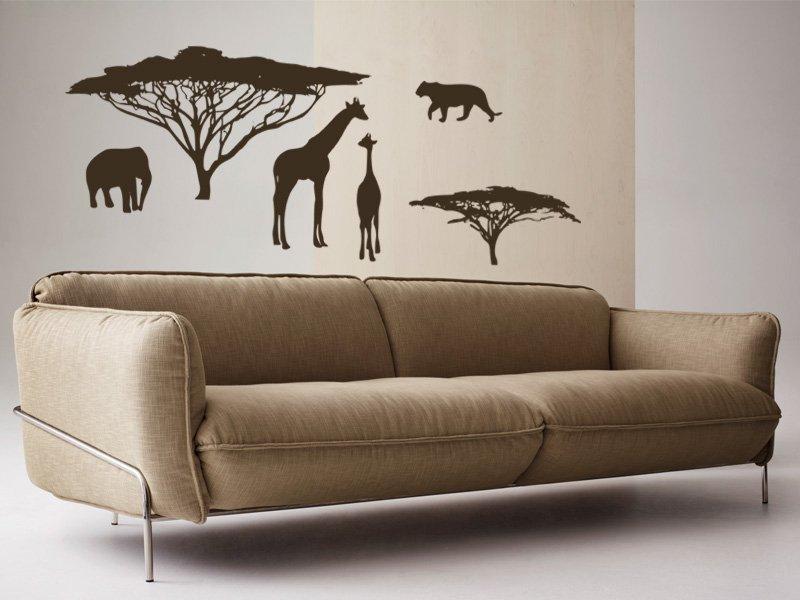 Samolepky na zeď Africké zátiší 002 - Samolepící dekorace a nálepka na stěnu