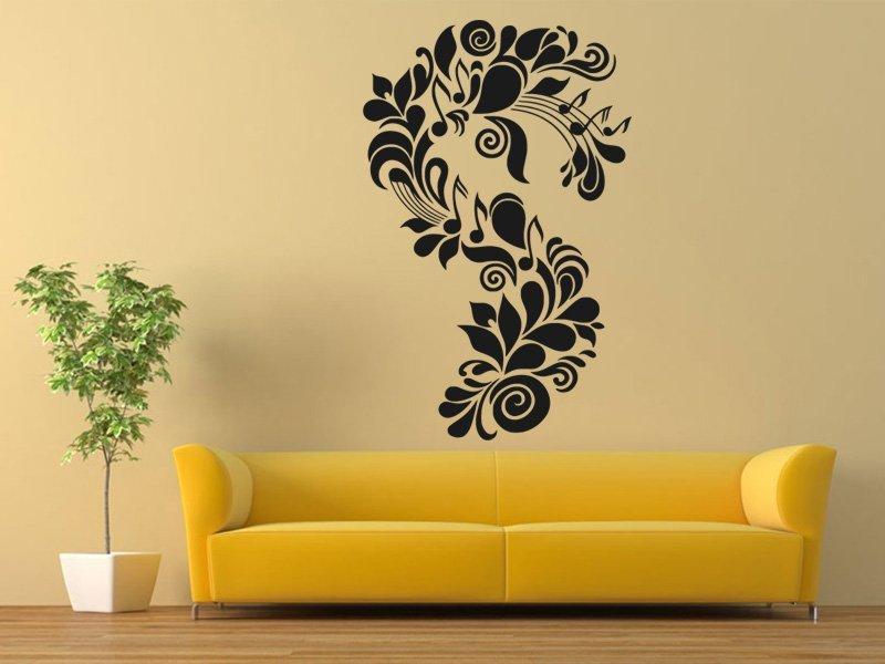 Samolepky na zeď Ornament noty 0280 - Samolepící dekorace a nálepka na stěnu