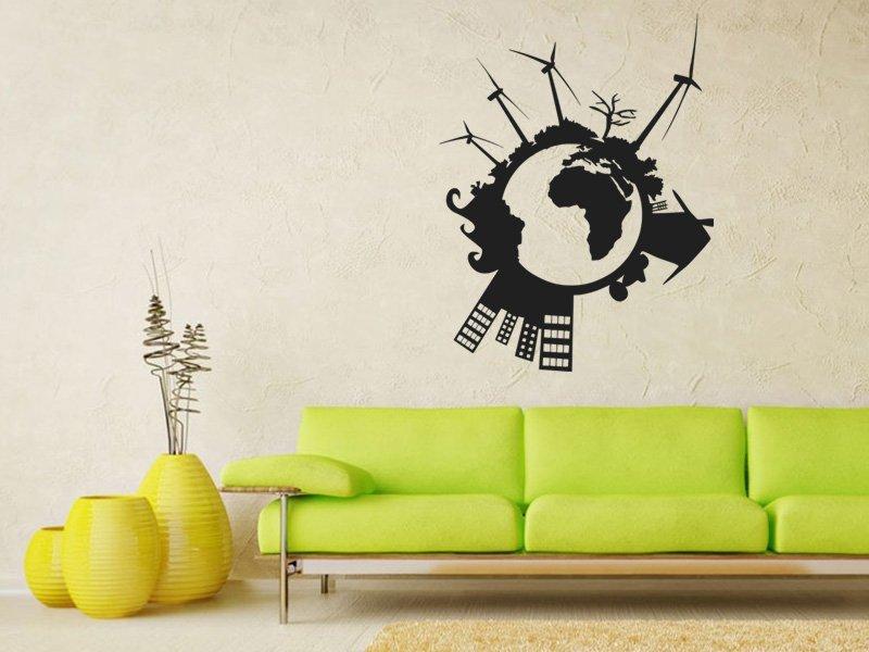 Samolepky na zeď Svět 004 - Samolepící dekorace a nálepka na stěnu