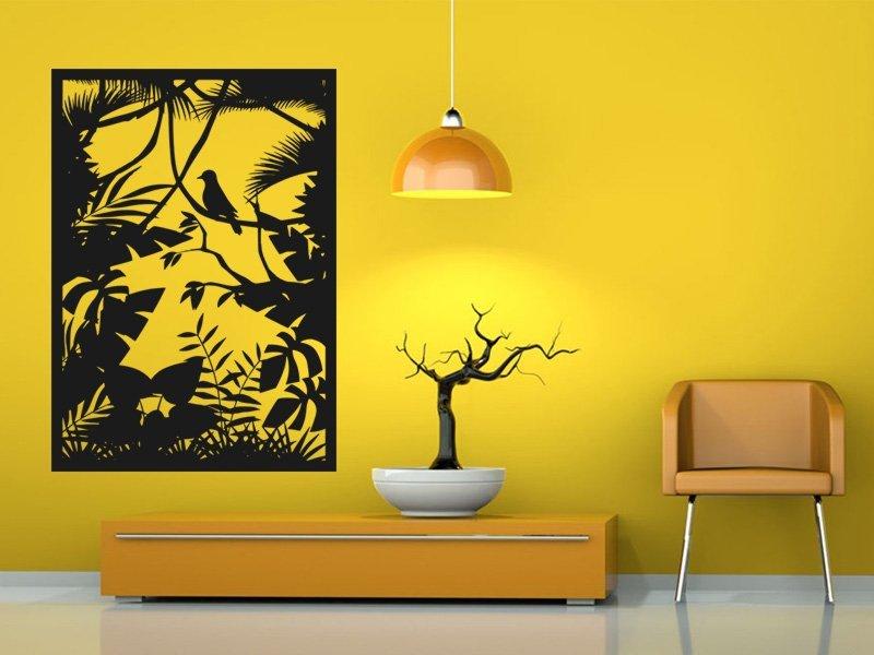 Samolepky na zeď Lesní zátiší 001 - Samolepící dekorace a nálepka na stěnu