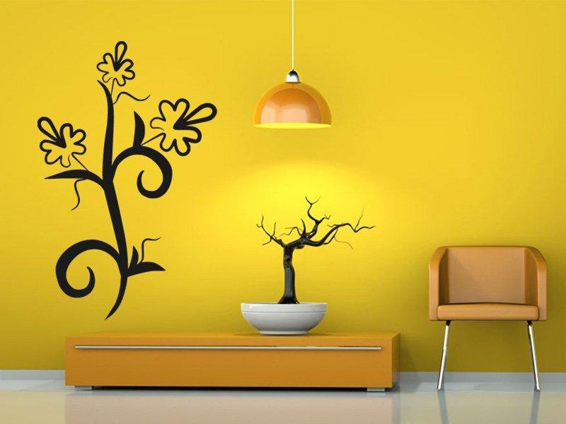 Samolepky na zeď Květiny 014 - Samolepící dekorace a nálepka na stěnu