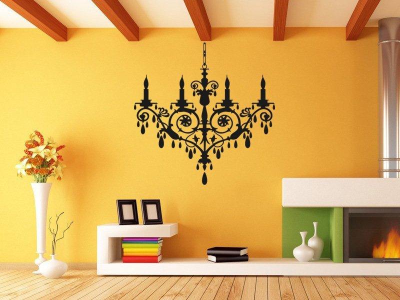 Samolepky na zeď Lustr 002 - Samolepící dekorace a nálepka na stěnu