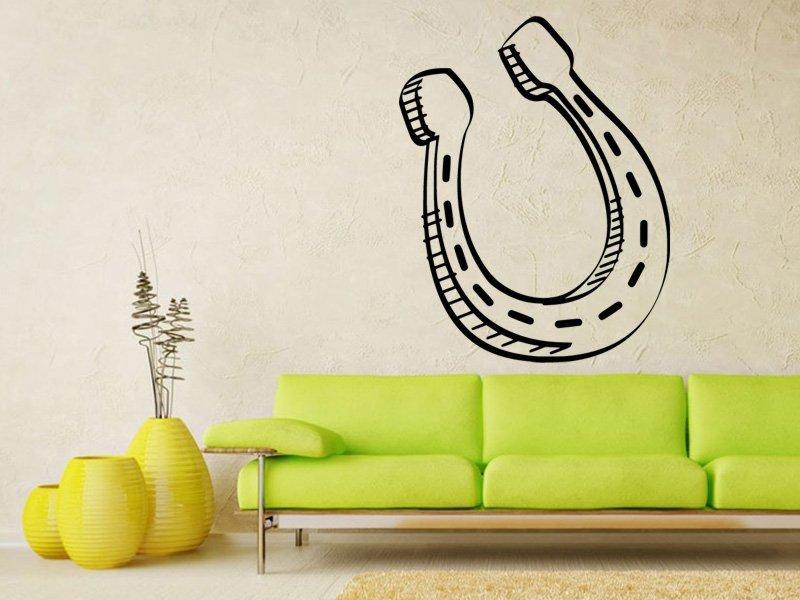Samolepky na zeď Podkova 0420 - Samolepící dekorace a nálepka na stěnu