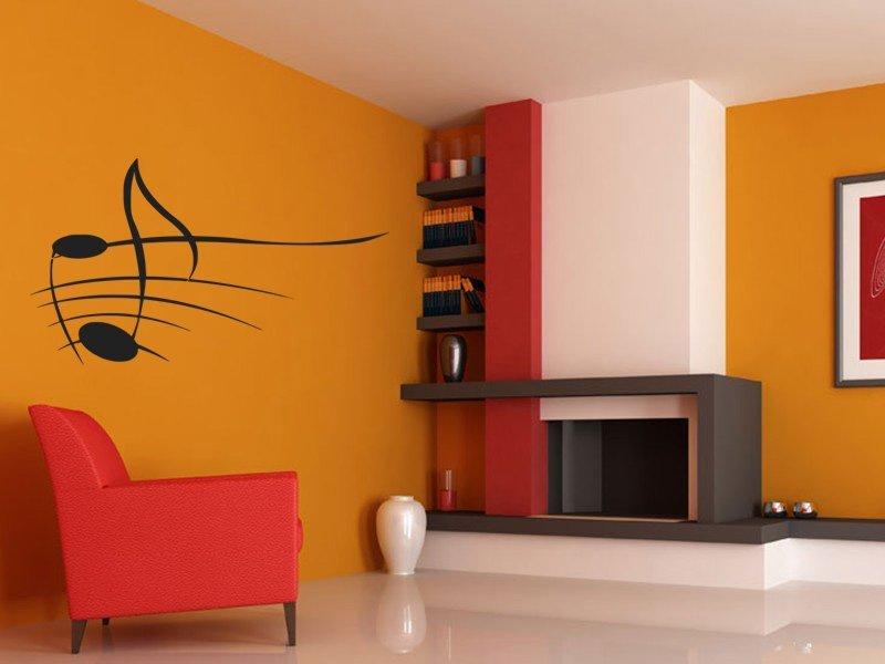 Samolepky na zeď Noty 006 - Samolepící dekorace a nálepka na stěnu