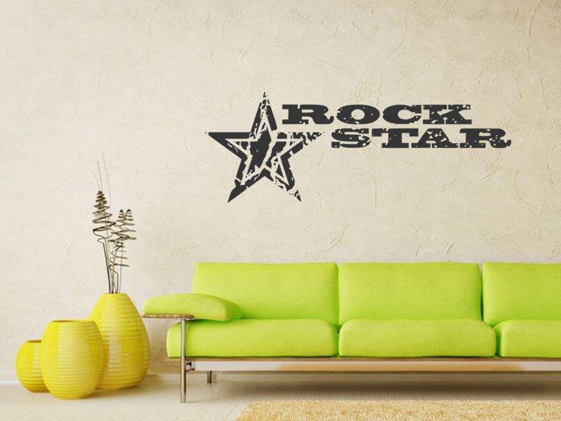 Samolepky na zeď Rock Star 001 - Samolepící dekorace a nálepka na stěnu