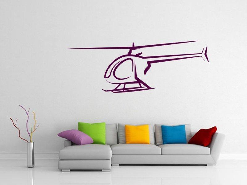 Samolepky na zeď Helikoptéra 002 - Samolepící dekorace a nálepka na stěnu