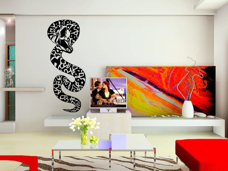 Samolepky na zeď Had 004 - Samolepící dekorace a nálepka na stěnu
