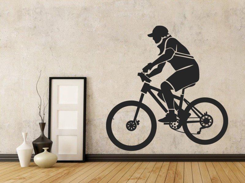 Samolepky na zeď Cyklista 001 - Samolepící dekorace a nálepka na stěnu