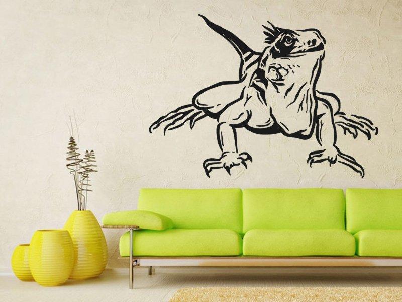 Samolepky na zeď Leguán 002 - Samolepící dekorace a nálepka na stěnu