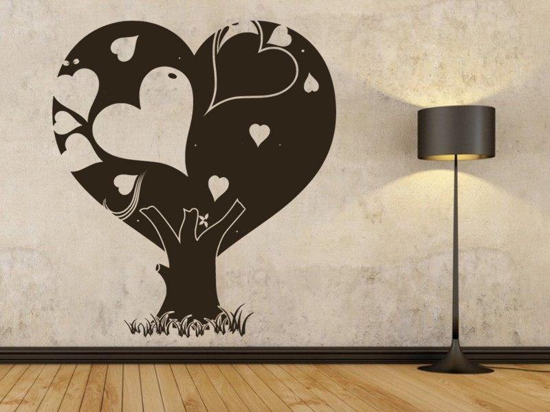 Samolepky na zeď Zamilovaný strom 0223 - Samolepící dekorace a nálepka na stěnu