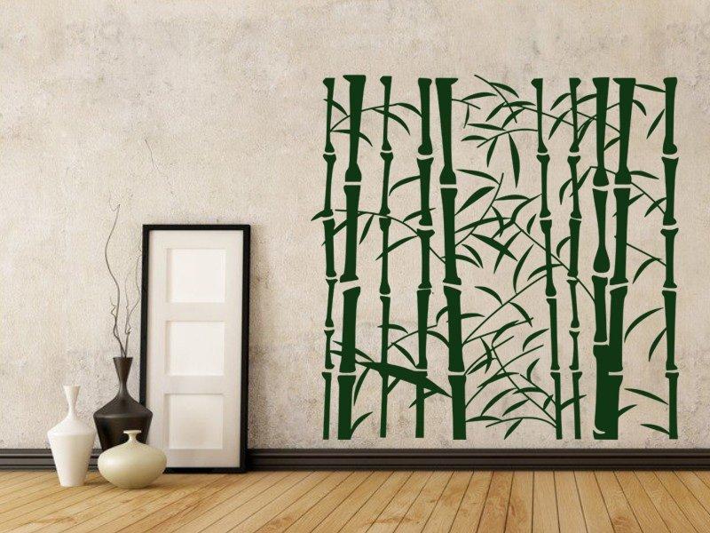 Samolepky na zeď Bambus 008 - Samolepící dekorace a nálepka na stěnu