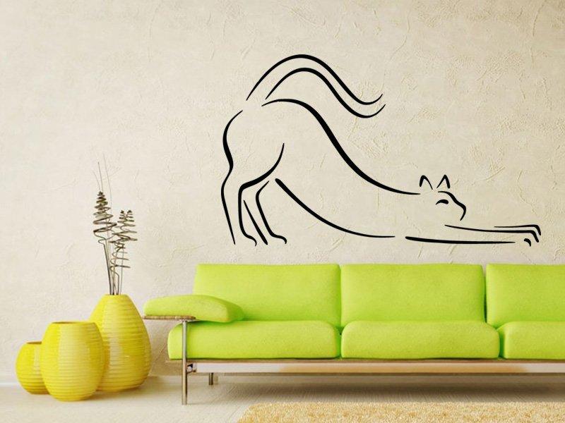 Samolepky na zeď Kočka 0426 - Samolepící dekorace a nálepka na stěnu