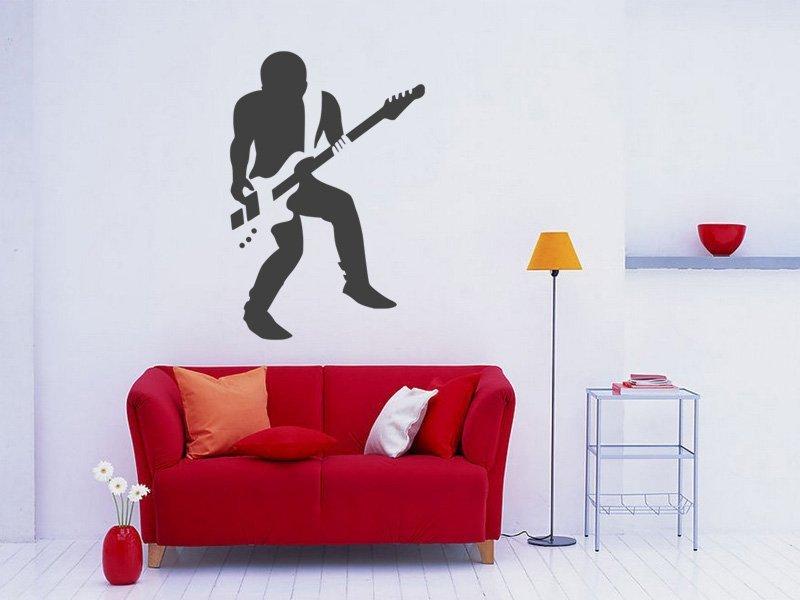 Samolepky na zeď Kytarista 005 - Samolepící dekorace a nálepka na stěnu