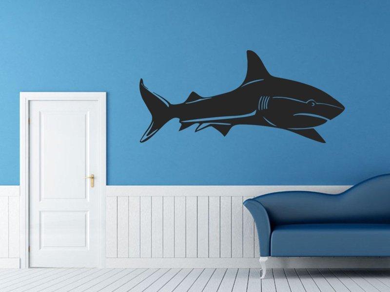 Samolepky na zeď Žralok 004 - Samolepící dekorace a nálepka na stěnu