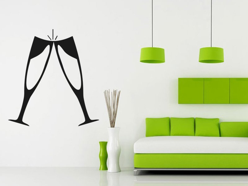 Samolepky na zeď Skleničky 0129 - Samolepící dekorace a nálepka na stěnu