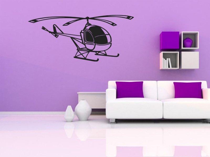 Samolepky na zeď Helikoptéra 006 - Samolepící dekorace a nálepka na stěnu