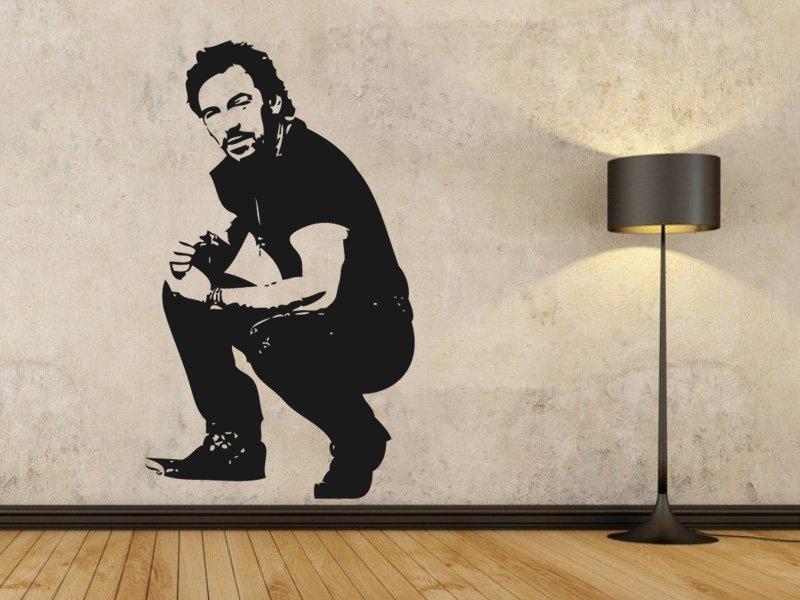 Samolepky na zeď Bruce Springsteen 001 - Samolepící dekorace a nálepka na stěnu