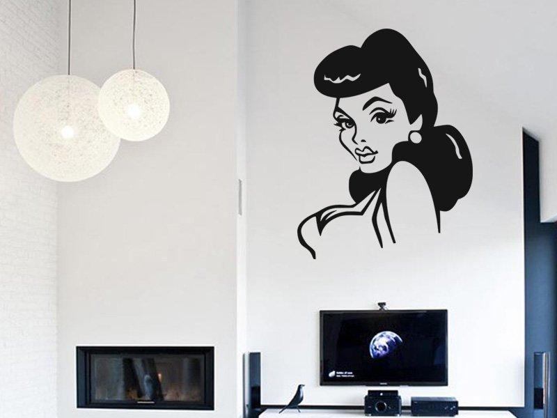 Samolepky na zeď Slečna 005 - Samolepící dekorace a nálepka na stěnu