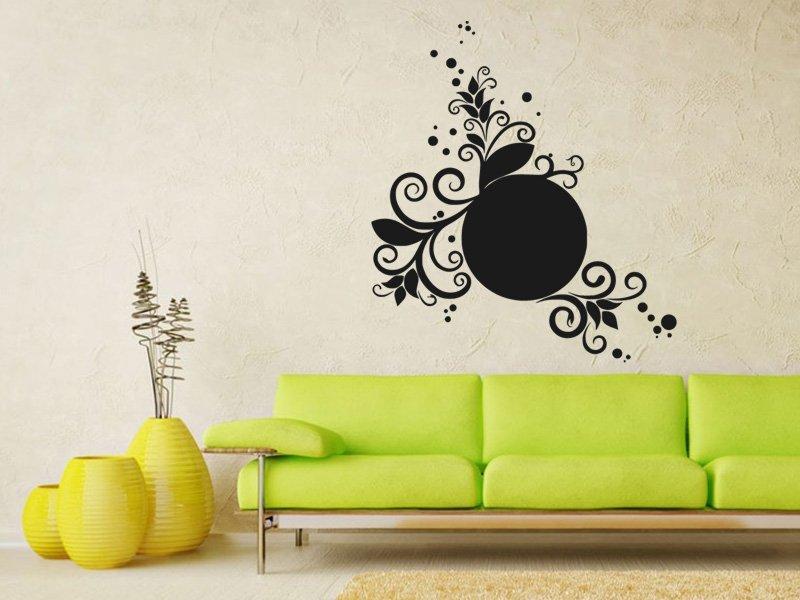 Samolepky na zeď Ornamenty z rostlin 025 - Samolepící dekorace a nálepka na stěnu