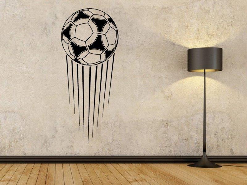 Samolepky na zeď Fotbalový míč 008 - Samolepící dekorace a nálepka na stěnu