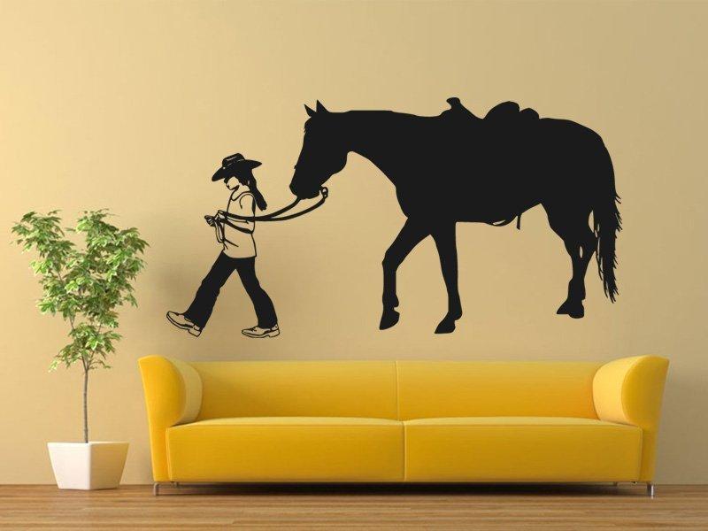 Samolepky na zeď Kůň 0396 - Samolepící dekorace a nálepka na stěnu