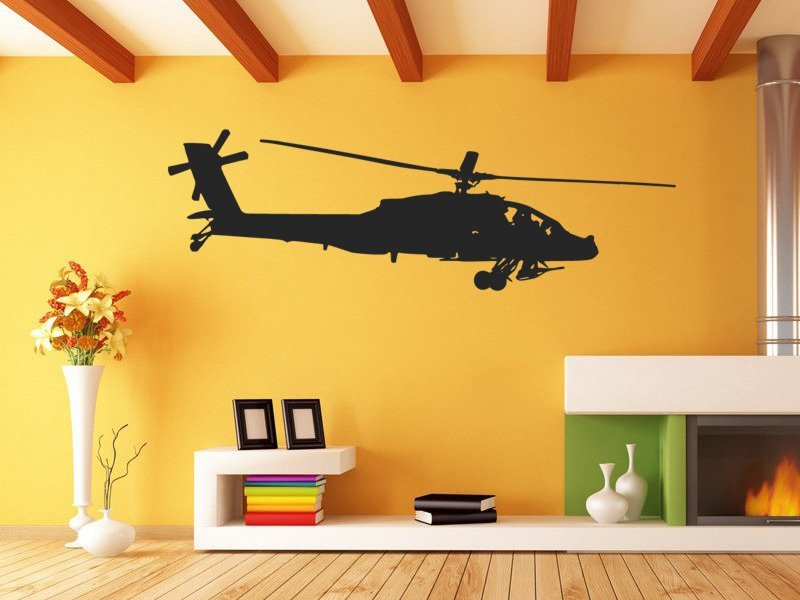 Samolepky na zeď Helikoptéra 0821 - Samolepící dekorace a nálepka na stěnu
