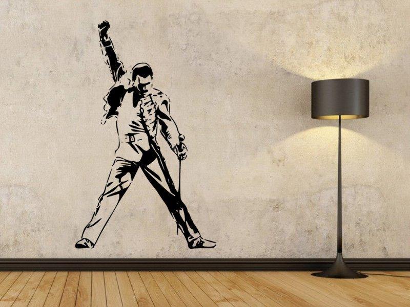 Samolepky na zeď Freddie Mercury 1363 - Samolepící dekorace a nálepka na stěnu