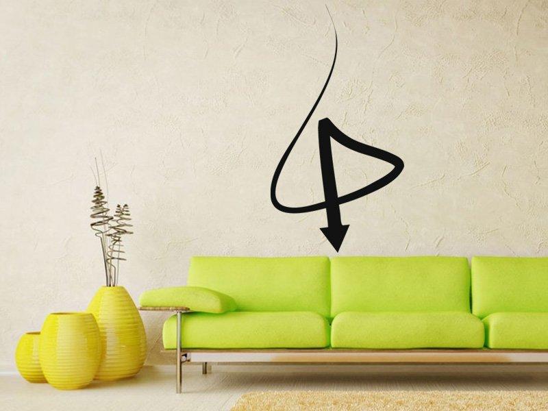 Samolepky na zeď Šipka 019 - Samolepící dekorace a nálepka na stěnu