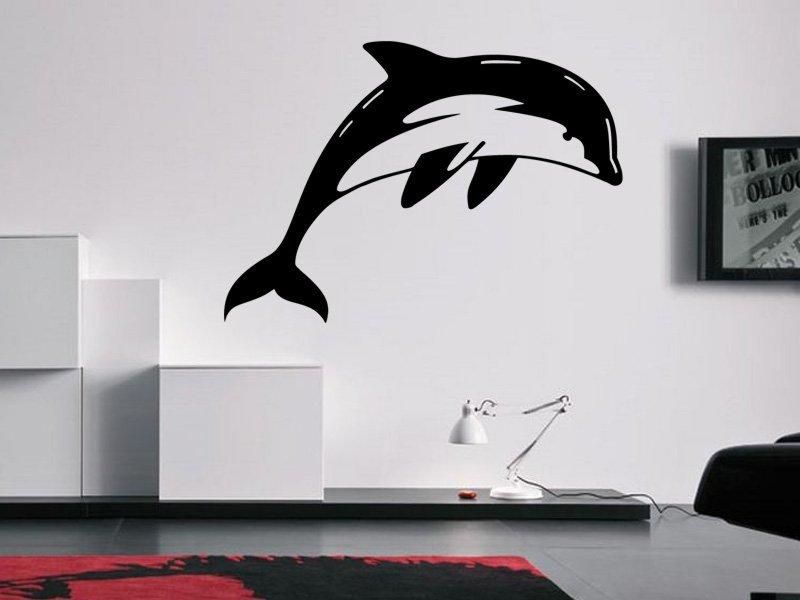 Samolepky na zeď Delfín 0196 - Samolepící dekorace a nálepka na stěnu